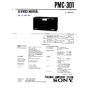 Sony PMC-301 Service Manual