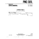 Sony PMC-301L (serv.man3) Service Manual