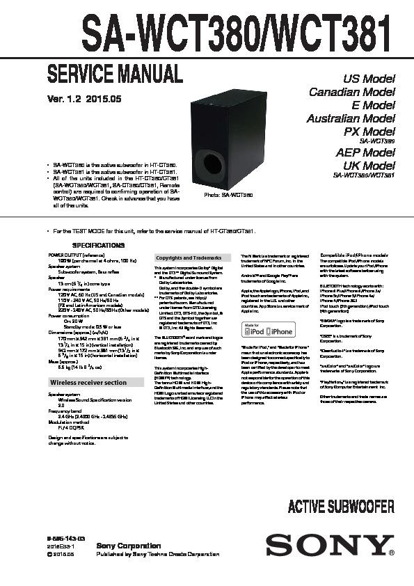 Looking For Sony Model Swf W Speaker Repair Manual Guide