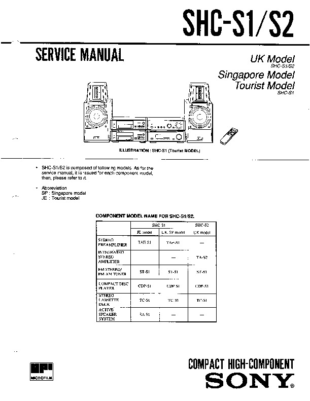 sony st-s1 service manual