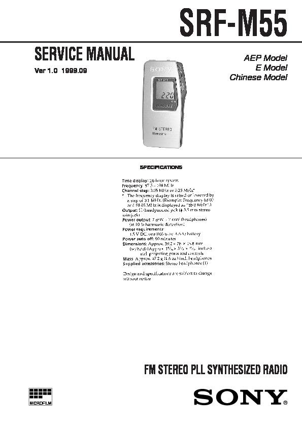sony srf m55 service manual free download rh servicemanuals us Sony Walkman SRF -59 sony srf-m55 user manual english