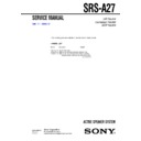 srs-a27 service manual