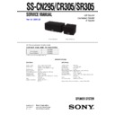 SS-CN295, SS-CR305, SS-SR305 (serv.man2) Service Manual