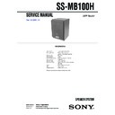 ss-fcr100, ss-fcrw100, ss-mb100h service manual