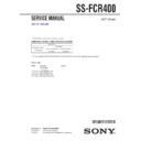 ss-fcr400 service manual