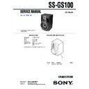 ss-gs100 service manual