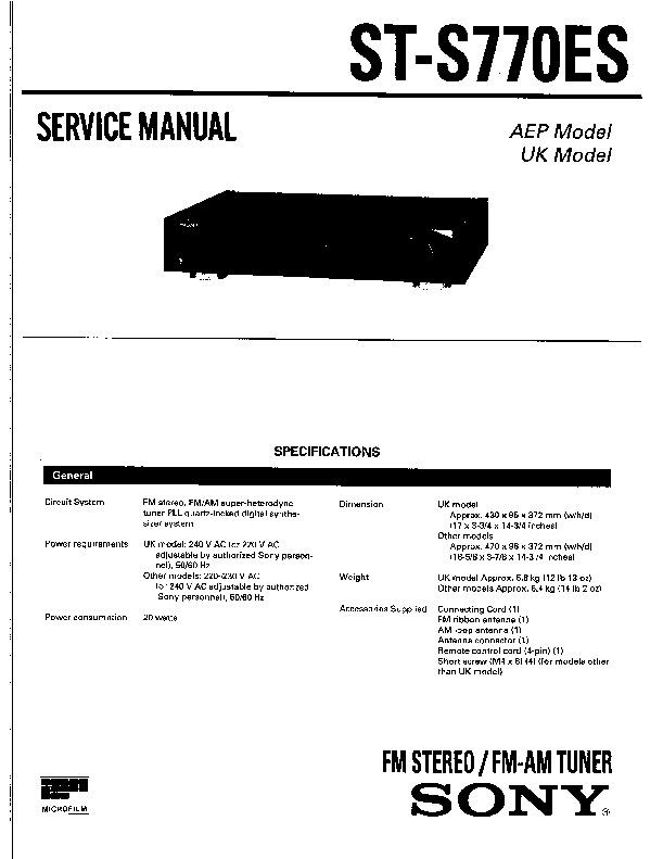 sony st-s7 service manual
