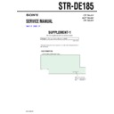 STR-DE185 (serv.man2) Service Manual