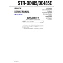 STR-DE485, STR-DE485E (serv.man2) Service Manual