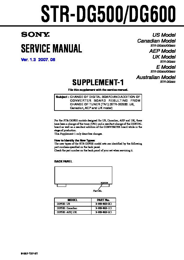 sony str dg500 str dg600 serv man2 service manual free download rh servicemanuals us str-dg600 manual