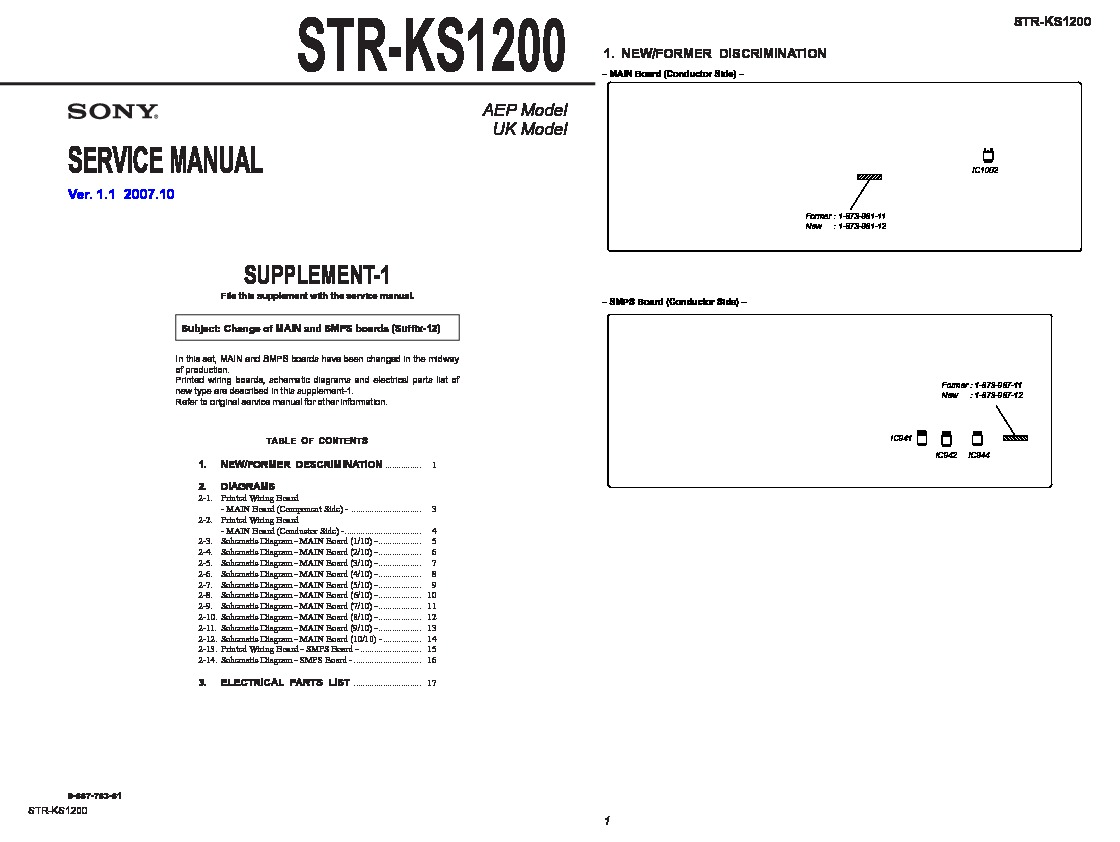 Sony STR-KS1200 Service Manual - FREE DOWNLOAD