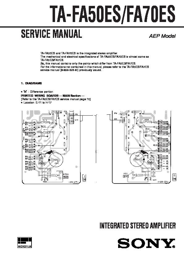 Sony Ta-fa50es  Ta-fa70es Service Manual