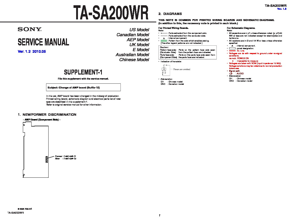 Sony Ta Sa200wr Service Manual Free Download A Wiring Diagram Servman2