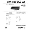Sony CDX-2160, EXCD-206 Service Manual