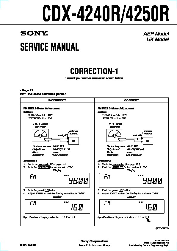 sony cdx 4250 cdx 4500 service manual free download rh servicemanuals us sony cdx-4250 wiring schematic Sony Xplod 52Wx4 Wiring-Diagram