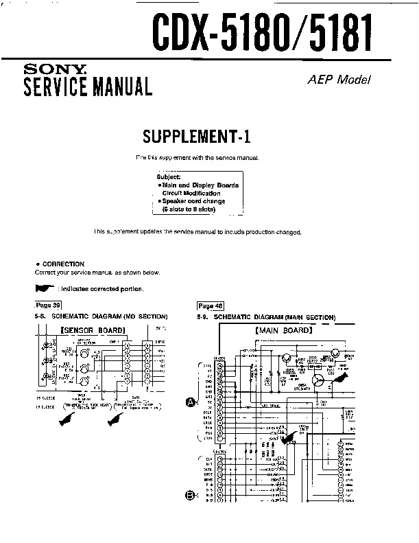 [DIAGRAM_38IS]  Sony CDX-5180, CDX-5181 (SERV.MAN2) Service Manual - FREE DOWNLOAD | Free Car Stereo Wiring Diagrams Sony Cdx 5180 |  | Service Manual