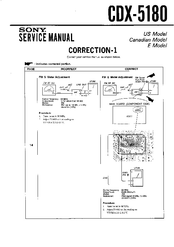 [DHAV_9290]  Sony CDX-5180 (SERV.MAN3) Service Manual - FREE DOWNLOAD | Free Car Stereo Wiring Diagrams Sony Cdx 5180 |  | Service Manual