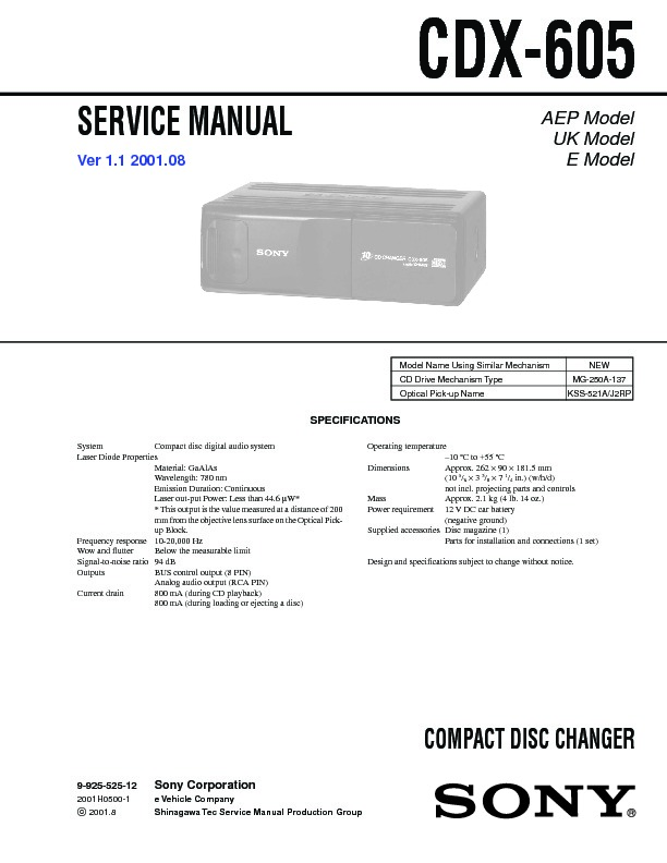 sony cdx 605 xdc 40 service manual free download rh servicemanuals us 1 Mg Xanax Bars MG-1 Gun