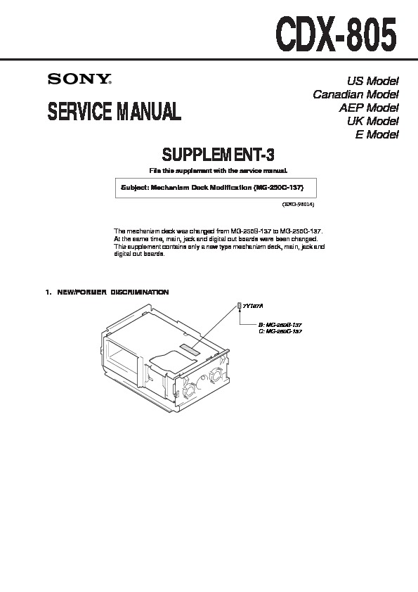 sony cdx 805 serv man5 service manual free download rh servicemanuals us moog mg-1 service manual 1 Mg of Salt