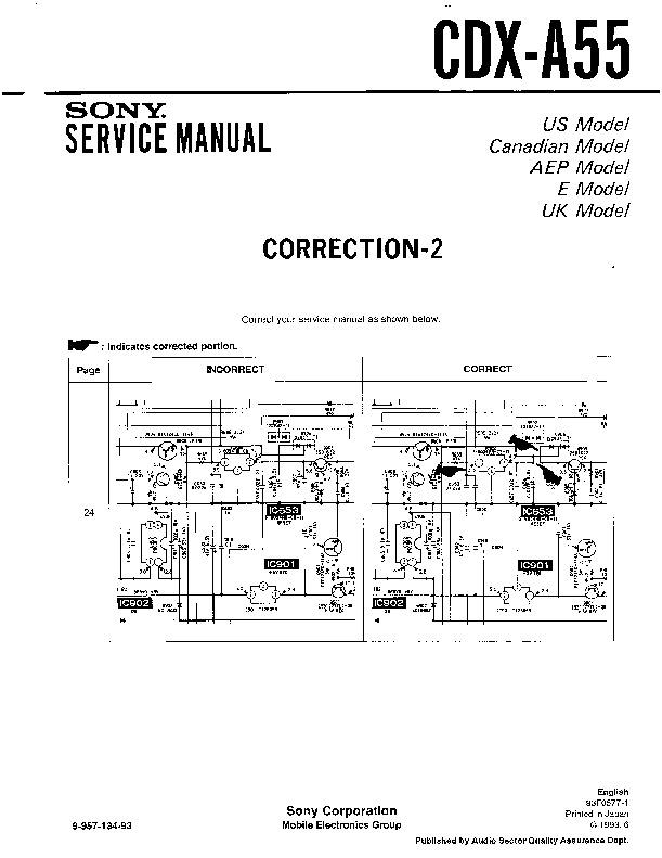 sony cdx-a55 service manual