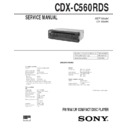 CDX-C560RDS Service Manual