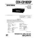 cdx-c810dsp service manual