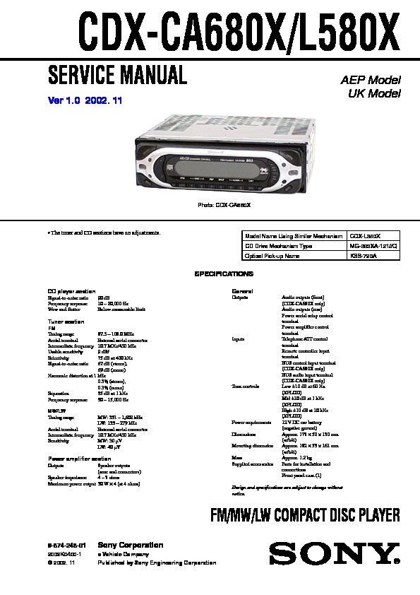 sony cdx gt66upw wiring diagram sony car stereo wiring