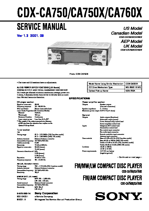 987029014 sony cdx ca750, cdx ca750x, cdx ca760x service manual free download sony cdx ca700x wiring diagram at gsmx.co