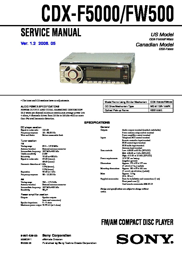 sony cdx gt5 10 wiring diagram with Sony Cdx F5000 Wiring Diagram on Sony Stereo Wiring Diagram Cdx Gt550ui furthermore Sony Cdx Fw500 Wiring Harness Diagram besides Sony Cdx M630 Wiring Diagram together with Sony Boombox Xplod Wiring Diagram furthermore Sony Cdx Gt110 Wiring Diagram.