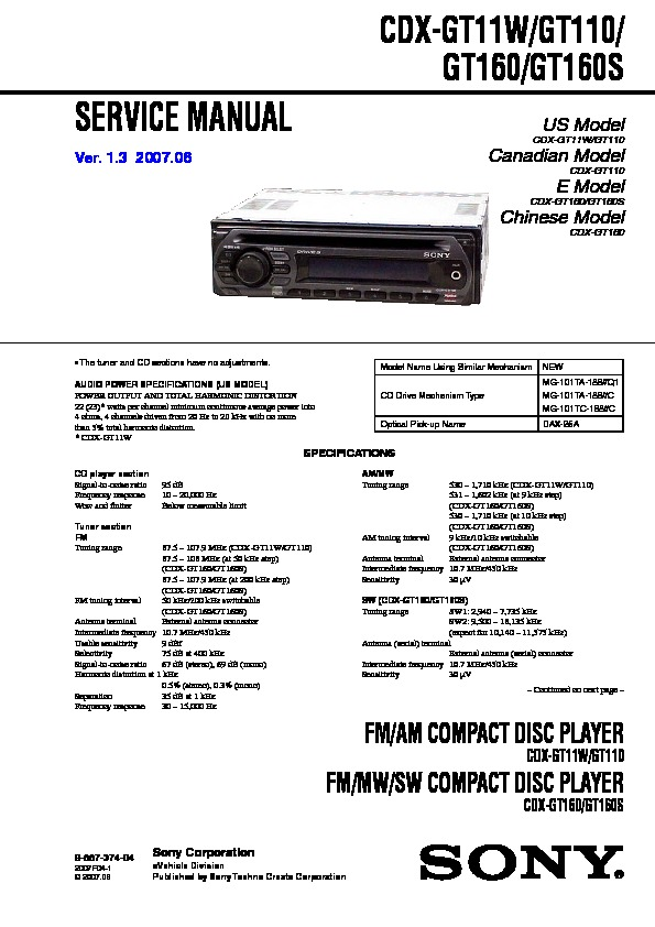 sony stereo cdx gt11w wiring diagram sony stereo wiring