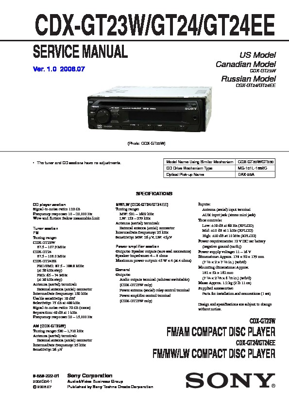 sony cdx gt33w wiring diagram   29 wiring diagram images