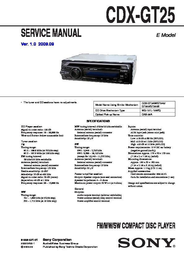 sony cdx gt25 wiring diagram cdx free printable wiring diagrams