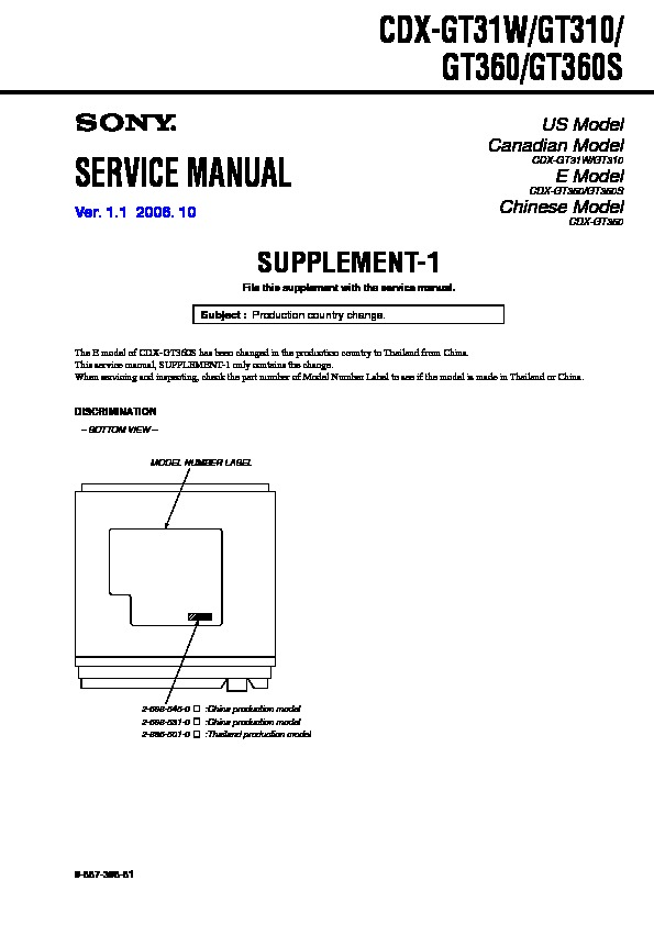 sony cdx gt310 service manual free download. Black Bedroom Furniture Sets. Home Design Ideas