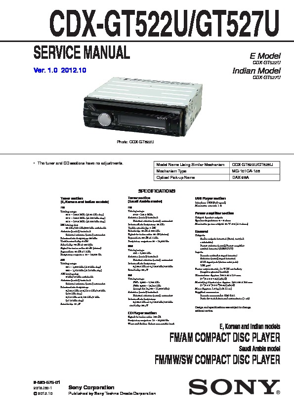 989357501 sony car audio service manuals page 29 sony cdx gt30w wiring diagram at n-0.co