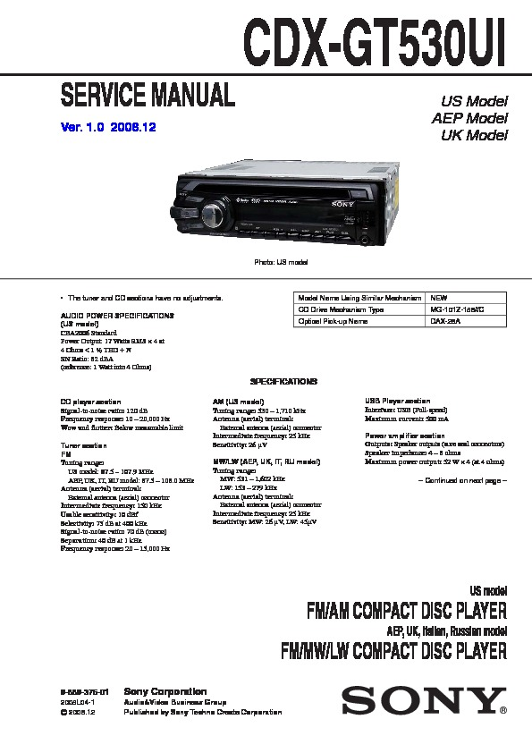 988937601 sony car audio service manuals page 30 sony cdx gt540ui wiring diagram at gsmx.co