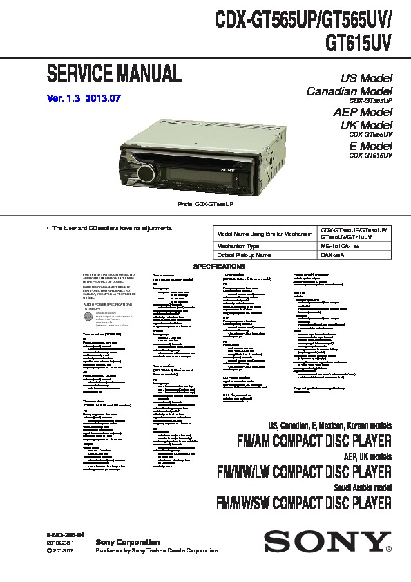 989326604 sony cdx gt575up wiring diagram dolgular com sony cdx-gt620ip wiring diagram at edmiracle.co