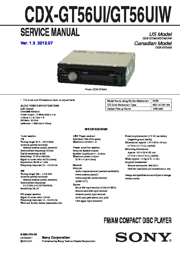 989321504 sony cdx gt56ui service manual free download sony cdx gt520 wiring diagram at readyjetset.co