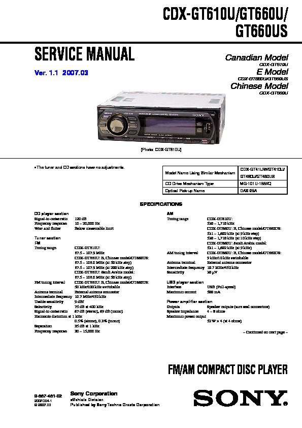 988748102 sony car audio service manuals page 30 sony cdx-gt620ip wiring diagram at edmiracle.co