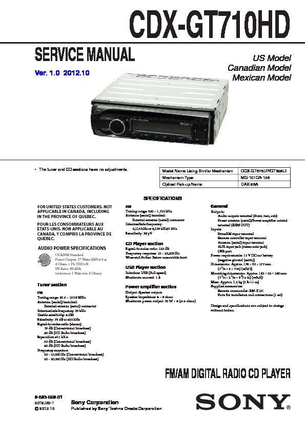 989355901 sony cdx gt710hd service manual free download sony cdx gt710hd wiring diagram at mifinder.co