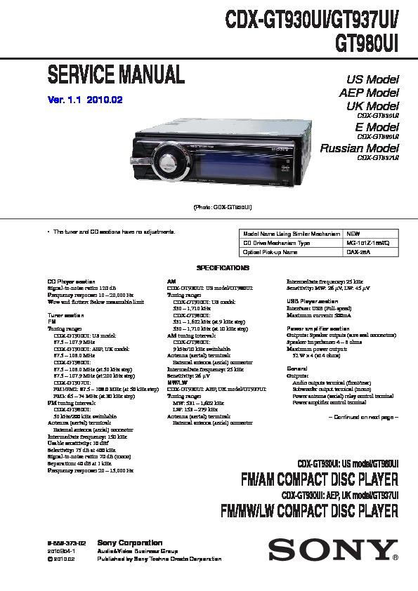 Diagram  Sony Car Stereo Cdx Gt21w Wiring Diagram Full