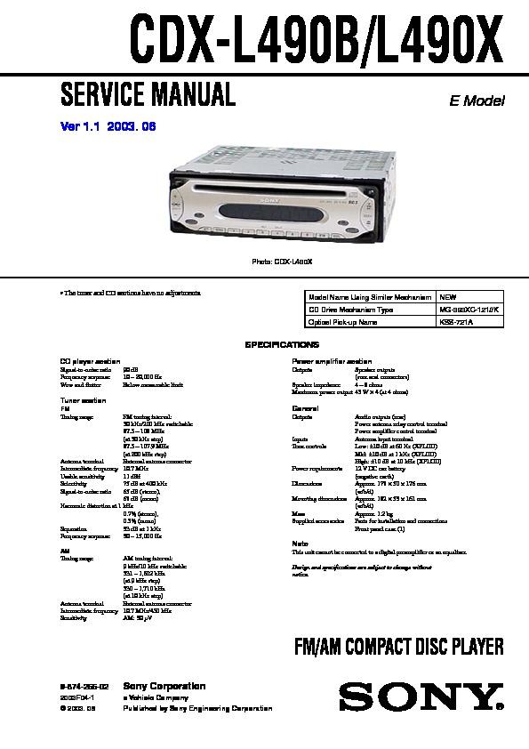 Sony Wiring Diagram Cdx Gt650ui Wiring Diagram
