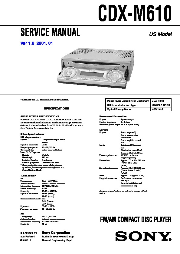 sony cdx m600 wiring diagram cdx free printable wiring diagrams