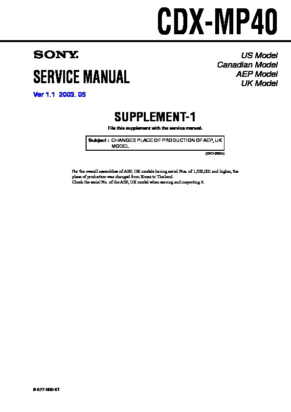 sony cdx mp40 wiring diagram sony cdx-mp40 service manual - free download #5