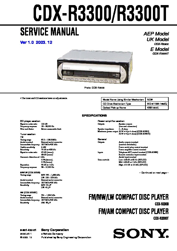 sony cdx r3300 wiring diagram   29 wiring diagram images