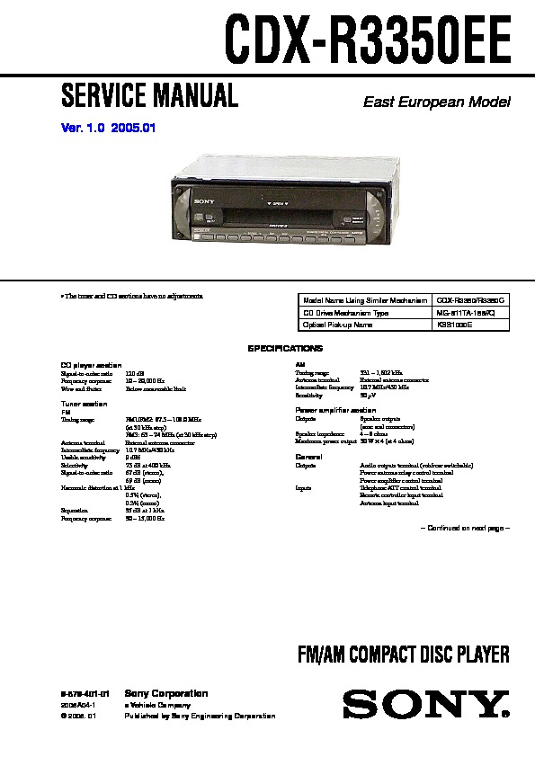 987940101 sony car audio service manuals page 36 wiring diagram for sony cdx r30m at n-0.co
