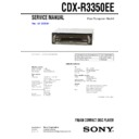 Sony CDX-R3350EE Service Manual