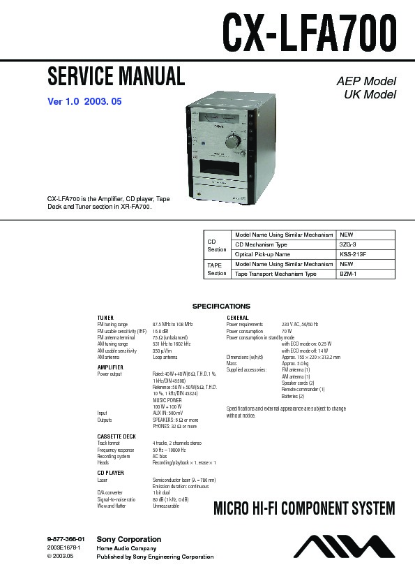 Sony Car-audio service manuals - Page 42