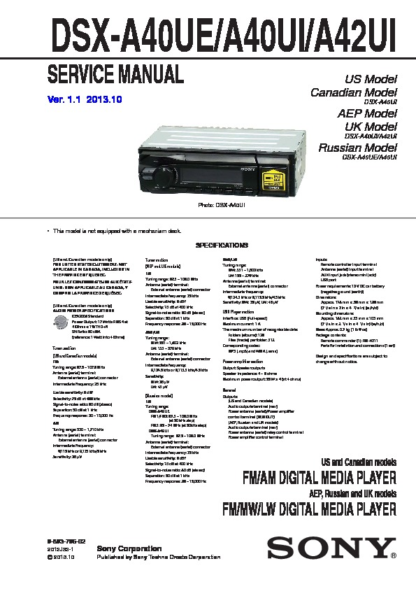 989379602 sony car audio service manuals page 43  at cita.asia