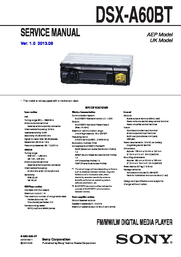 sony car audio service manuals page 43 rh servicemanuals us Sony Stereo Wiring Diagram Sony Car Stereo Wiring Diagram