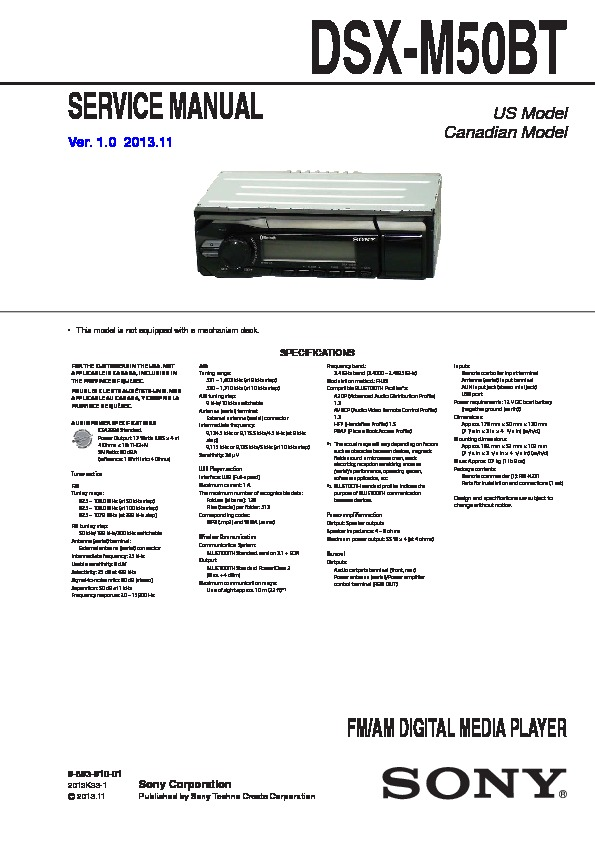 989391001 sony car audio service manuals page 43 sony dsx s100 wiring diagram at bayanpartner.co